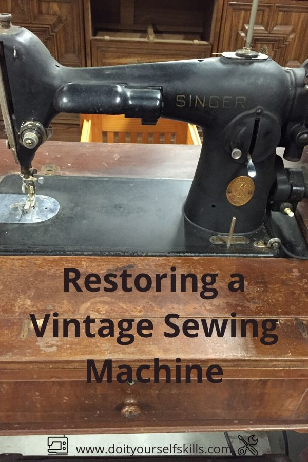 A vintage sewing machine in need of restoration