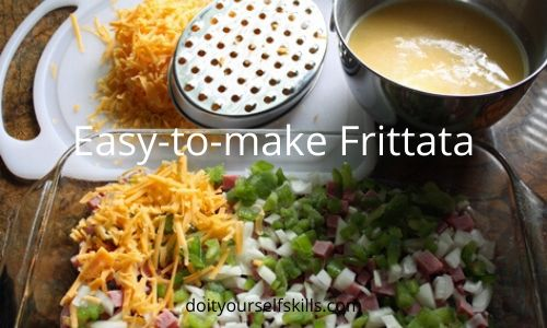 Ingredients for making a frittata