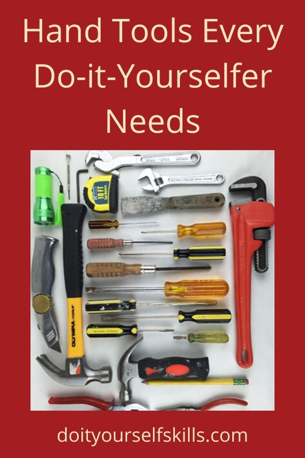 Assorted hand tools that every do-it-yourselfer needs