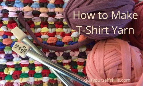 Pink and purple t-shirt yarn