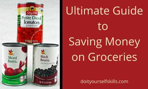 Cans of store brand vegetables are a great way to save money on groceries