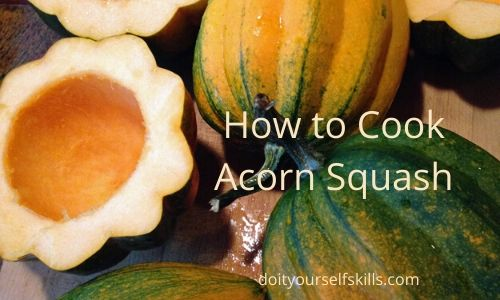 How to prepare and cook acorn squash grown in the garden