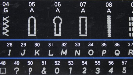 Stitch selection on a computerized sewing machine