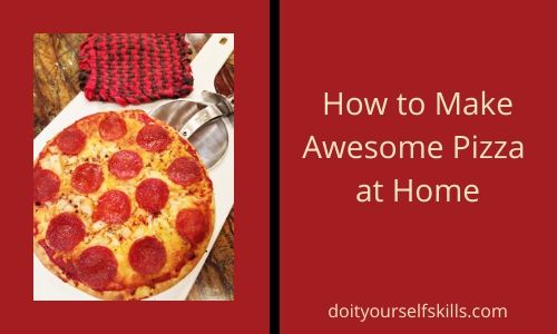 Pepperoni pizza baked at home