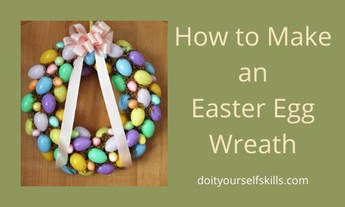 How to make an Easter egg wreath with plastic eggs from the dollar store