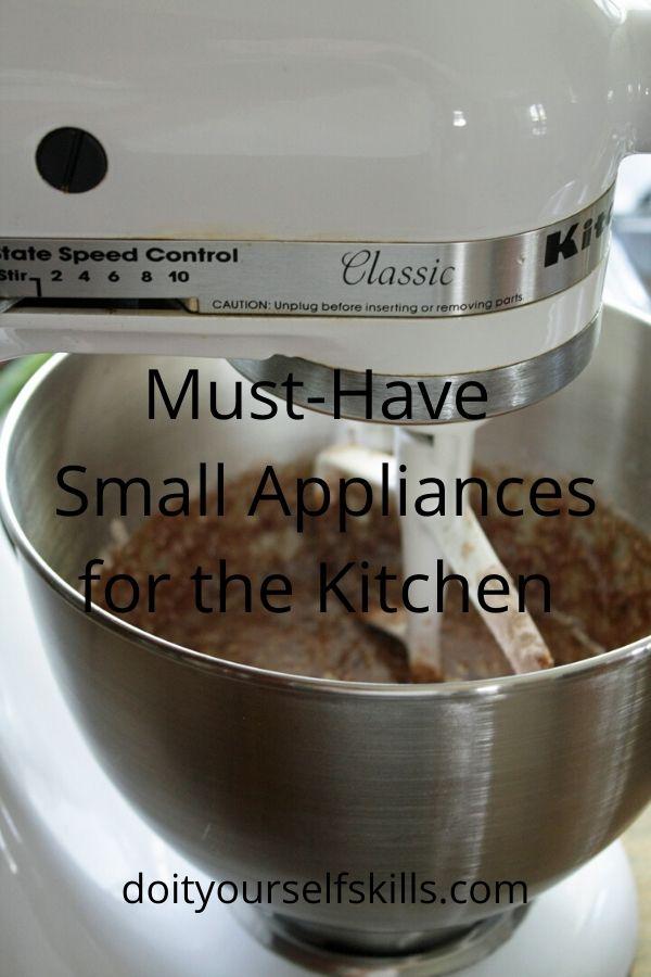 A KitchenAid stand mixer