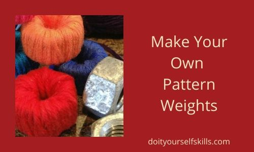 How to make your own pattern weights with yarn and hex nuts
