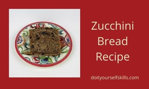 Decorate plate with slices of freshly baked zucchini bread